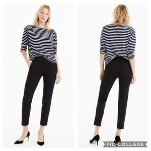 J Crew Cameron High-Rise Slim Crop Pant Black